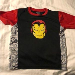 Boys small iron man nylon shirt